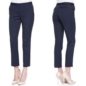 Theory Item Cropped Navy Trouser Pants Size 4